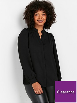 wallis-plain-airflow-shirt-black
