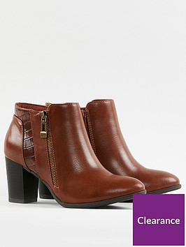 wallis-side-zip-mixed-material-smart-boots--nbsptan