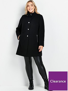 evans-double-crepe-funnel-coat-blacknbsp