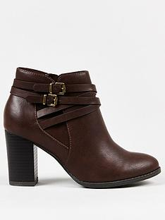 wallis-multi-strap-block-heel-ankle-boot