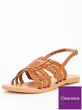 v-by-very-huarache-leather-sandal-tan