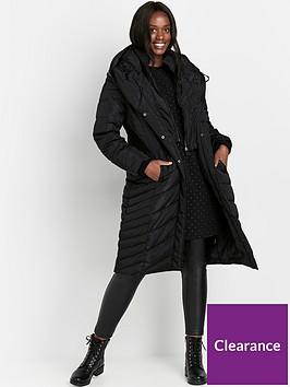 evans-pillow-collar-double-layer-coat--nbspblack