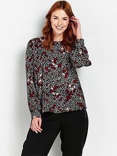 wallis-berry-confetti-floral-top-black