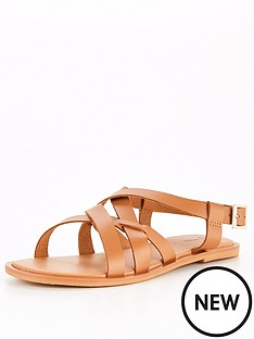 v-by-very-cancun-leather-strappy-flat-sandal-tan