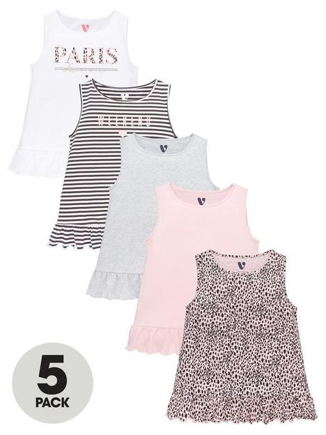 v-by-very-girls-5-pack-animal-and-cities-peplum-vest-tops
