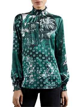 ted-baker-rococo-high-neck-top-teal