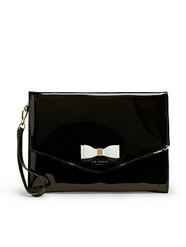 ted-baker-bow-pouch-black