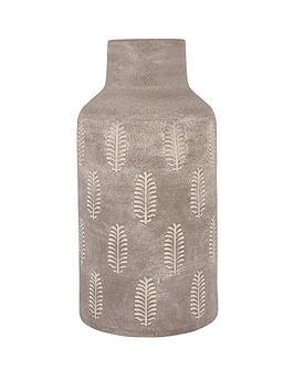 pacific-lifestyle-textured-matt-grey-fern-stoneware-vase