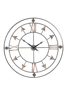 pacific-lifestyle-antique-grey-and-gold-metal-wall-clock