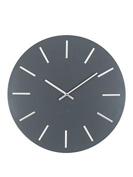 pacific-lifestyle-matt-grey-and-silver-round-metal-wall-clock