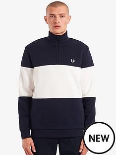 fred-perry-colourblock-half-zip-sweatshirt-navy