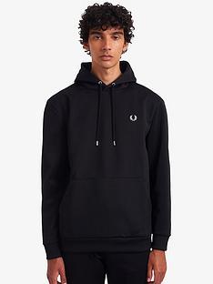fred-perry-laurel-wreath-hoodie-black