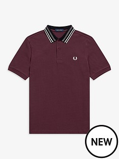 fred-perry-striped-collar-polo