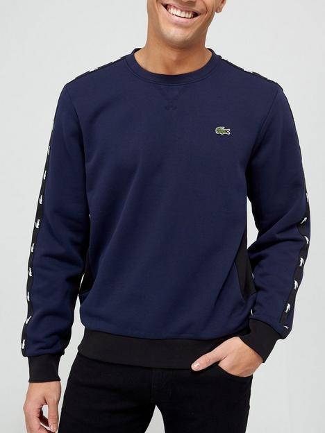 lacoste-taped-detail-sweatshirt-navy