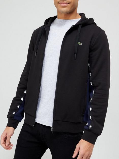 lacoste-taped-detail-hoodie-black