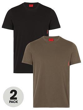 hugo-bodywear-2-pack-t-shirt-khakiblack