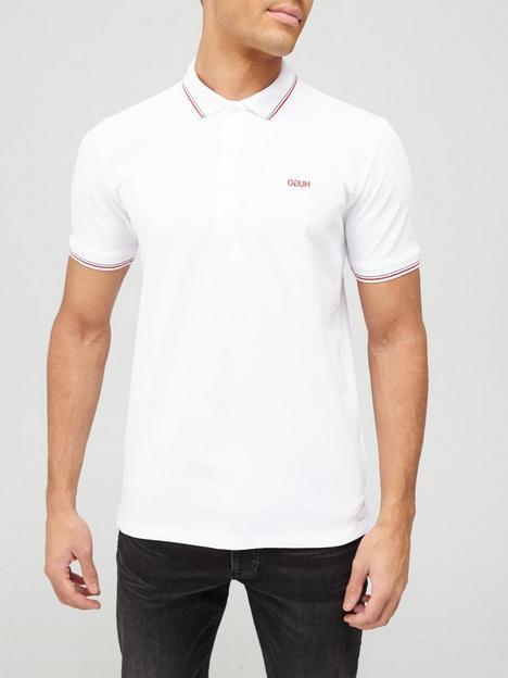 hugo-dinoso-tipped-collar-polo-shirt-white