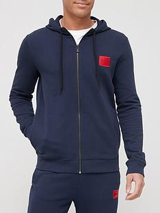 hugo-dapele-212-red-patch-logo-zip-through-hoodie-dark-blue