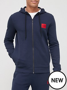 hugo-dapele-212-red-patch-logo-zip-through-hoodie-dark-blue