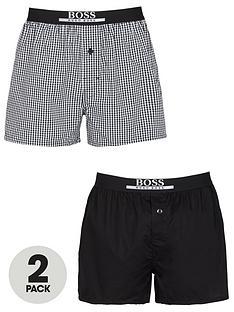 boss-bodywear-2-pack-woven-check-boxers-black