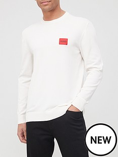 hugo-san-claudio-4-red-patch-logo-knitted-jumper-off-white