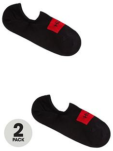 hugo-bodywear-2-pack-no-show-socks-black