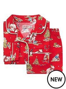 cath-kidston-unisex-festive-party-animals-woven-pyjamas-red