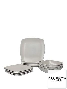 creative-tops-raven-12-piecenbspstoneware-square-dinner-set--nbspgrey