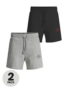 jack-jones-2-pack-logo-jersey-shorts-greyblack