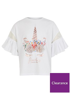 river-island-girls-frill-sleeve-unicorn-t-shirt--nbspwhite