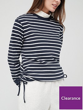 v-by-very-ruched-sweat-navy-stripe