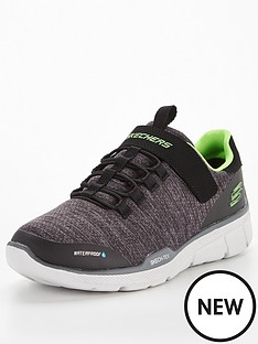 skechers-equalizer-aquablast-waterproof-trainer-charcoal