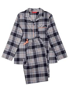minijammies-boys-thomas-check-long-sleeve-pyjama-set-navy
