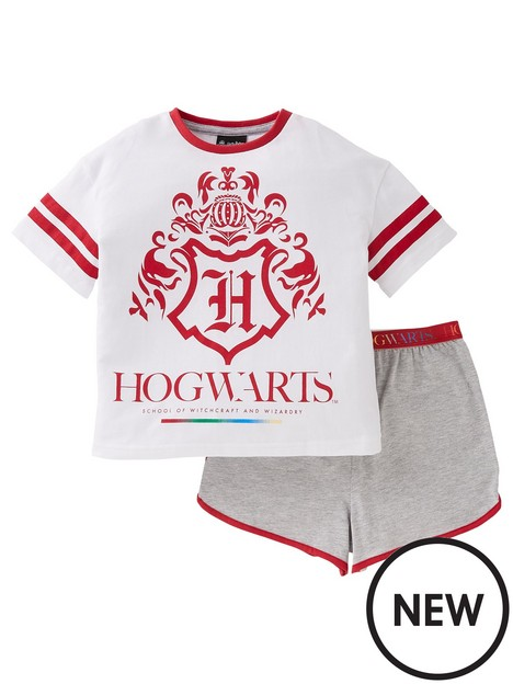 harry-potter-girlsnbsphogwarts-shorty-pyjamas-white