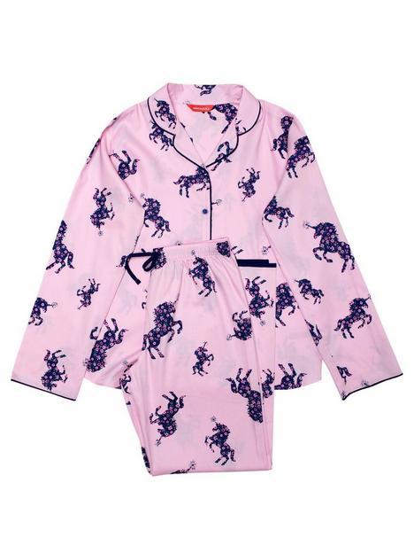 minijammies-girls-mini-me-ariana-unicorn-long-sleeve-pyjamas-pink