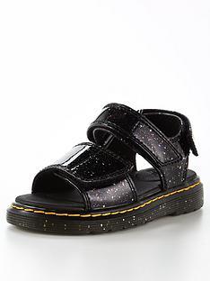 dr-martens-juniornbspromi-cosmic-sandal-black-glitter