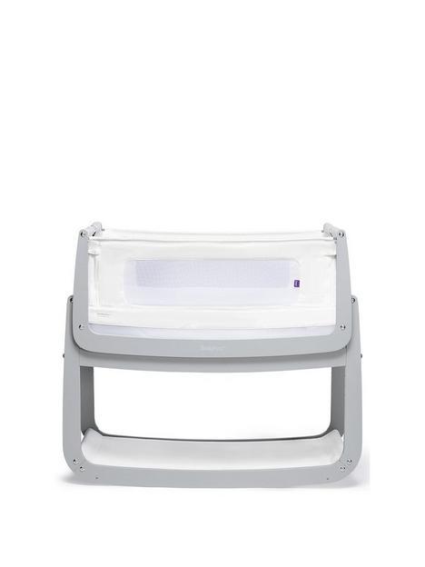 snuz-snuzpod-4-bedside-crib-with-mattress-dove-grey