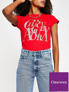 river-island-chanceux-t-shirt-red