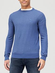 boss-amador-chest-logo-knitted-jumper-light-blue