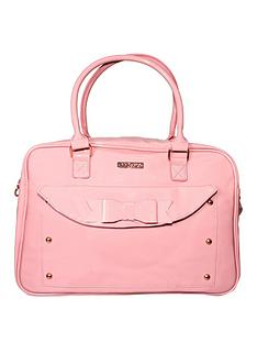 my-babiie-billie-faiers-patent-pink-changing-bag