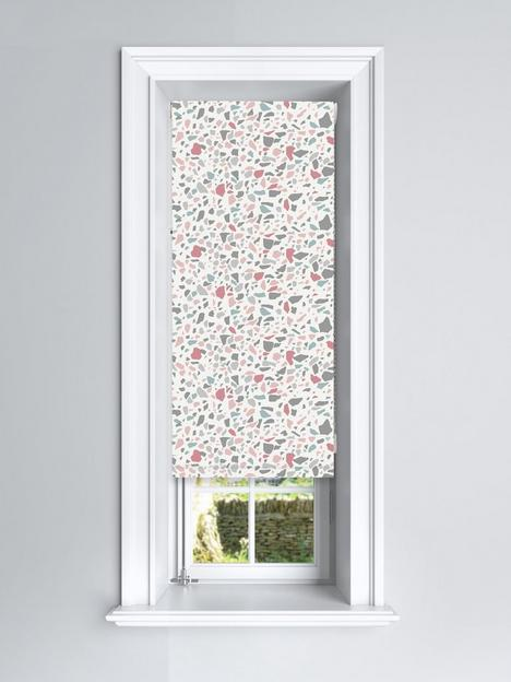 terrazzo-pink-and-grey-blackout-roller-blind