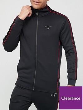 sik-silk-imperial-zip-through-hoodie-black