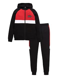 v-by-very-boys-cut-and-sewnbspzip-through-jacket-and-jogger-set-blackred