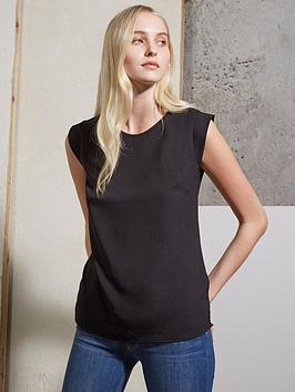 french-connection-polly-plain-capped-tee--black