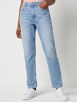 french-connection-palmira-denim-high-waisted-straight-leg-30-jean-blue