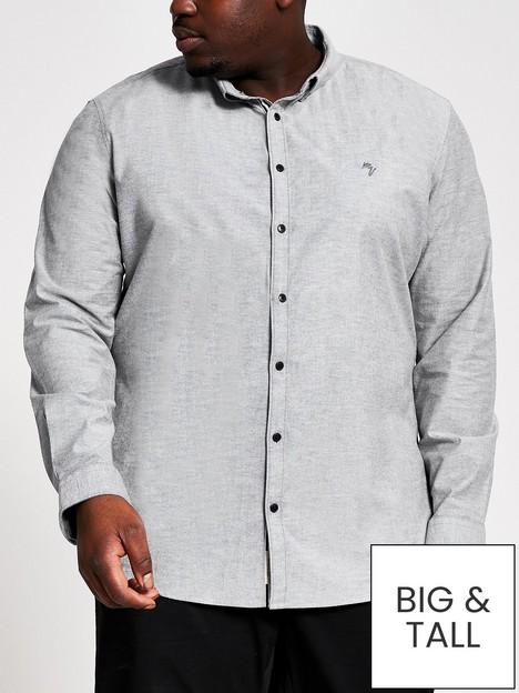 river-island-long-sleevenbspoxford-big-amp-tall-shirt-greynbsp