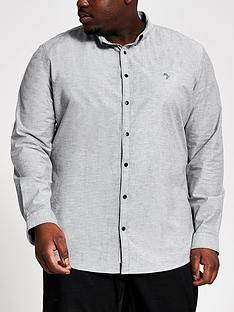 river-island-long-sleevenbspoxford-big-amp-tall-shirt-greynbsp