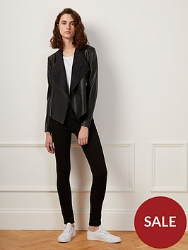 french-connection-stephanie-pu-waterfall-jacket-black