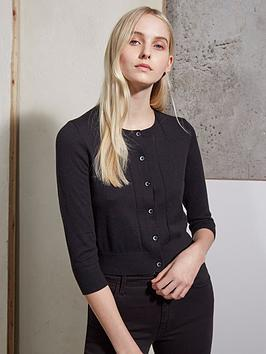 french-connection-spring-bambino-knit-cardigan-black