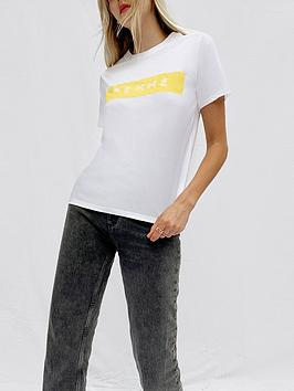 french-connection-femme-graphic-tee-white